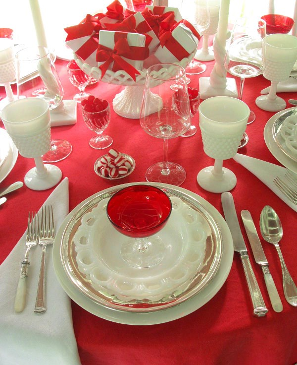 Tischdecke rot  kreieren Sie eine festliche und