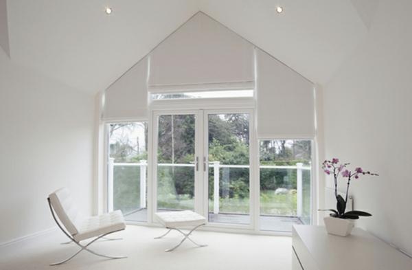 Dreiecksfenster verdunkeln  Fenster Rollos und