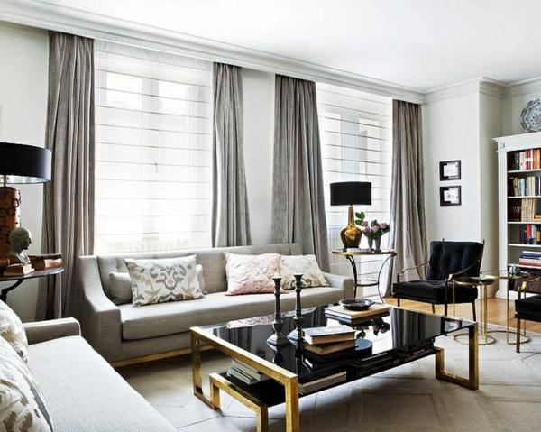Gardinen Vorhange Fenster Modern Designer Grau Glanzvoll