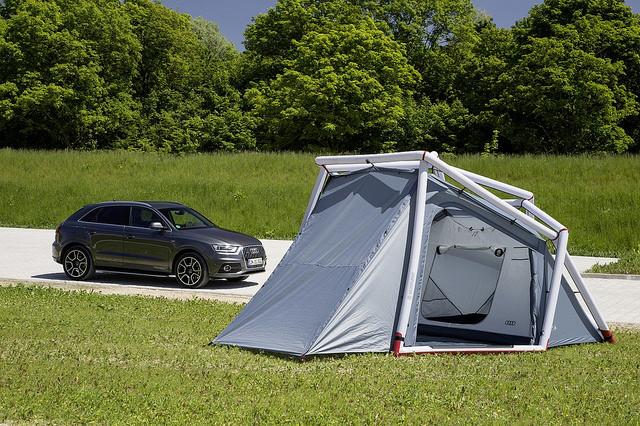 Campen leicht gemacht mit dem Camping Zelt fr Audi Q3
