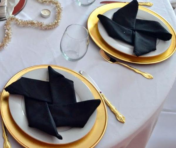 Servietten falten  Tischdeko mit einfachen Falttechniken