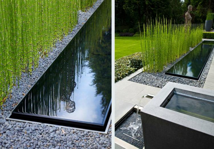 moderner vorgarten mit kies – usblife, Garten und bauen
