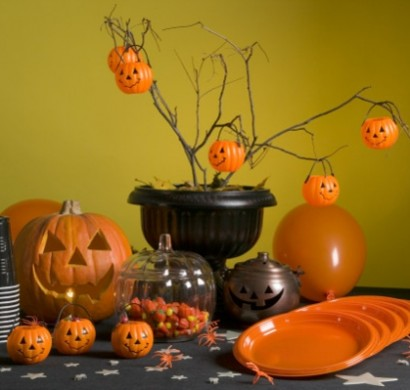 Halloween Deko selber machen  Tischdeko basteln