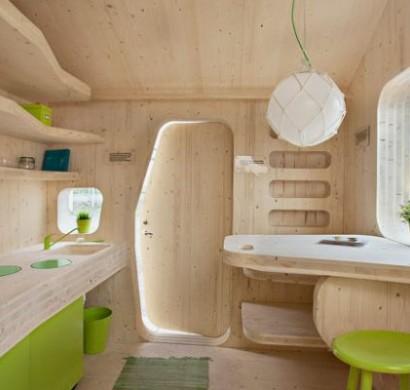 Kleines Holzhaus fr Studenten auf 10 Quadratmeter