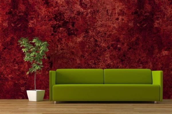 Rote Tapeten fr kniglichen Rumlichkeiten in Ihr Zuhause