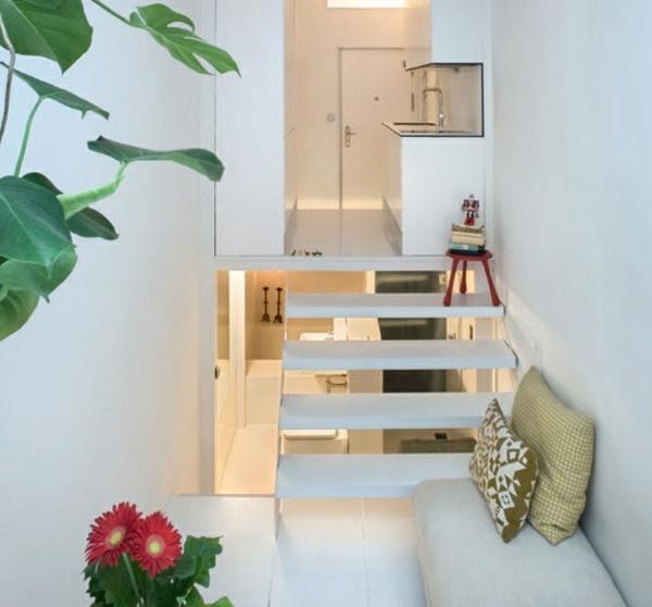 Kleine Wohnung einrichten  die Raumhhe benutzen und