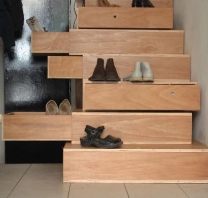Treppen im Trend  Durch Treppenschubladen viel Stauraum erschaffen
