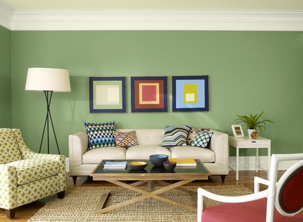 Wohnzimmer Ideen Wandgestaltung Grün sdatec.com