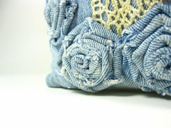 50 Kissenhllen aus Jeans DIY Kissenbezge aus recycelten