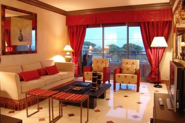 35 rote Gardinen fr knigliche Eleganz in Ihrem Wohnzimmer