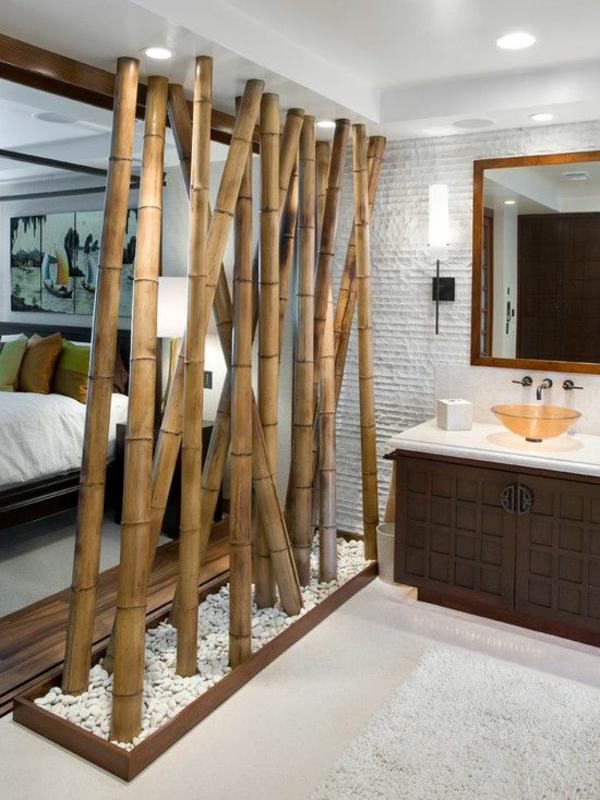 Bambus Badmbel sorgen fr eine ZenAtmosphre im modernen