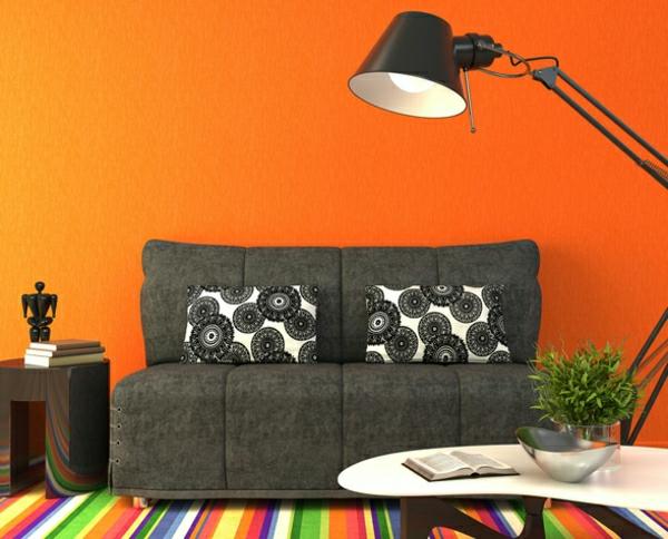 Wohnzimmer Farbe Orange | Haus Design Ideen