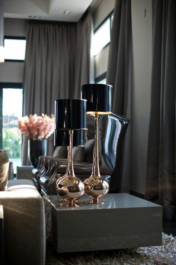 Wohnzimmer Modern Einrichten Moderne Vorhange Dunkel Designer Mbel