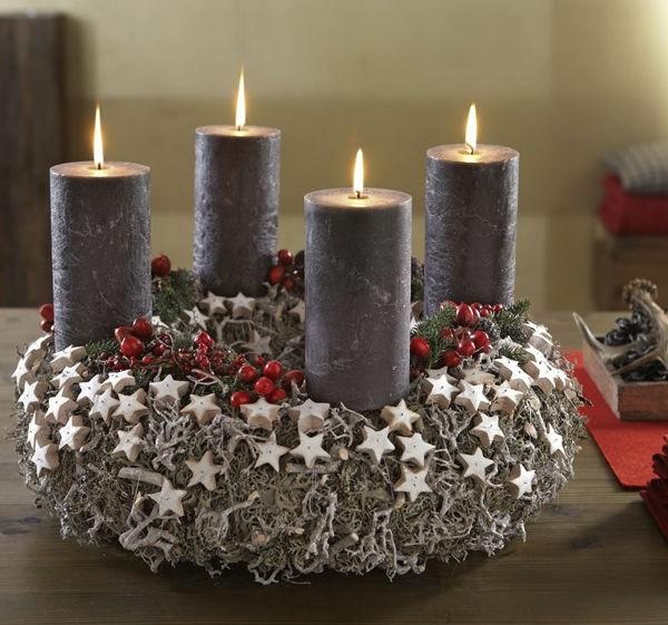 ▷ 1001+ Adventskranz Ideen und Bilder für Ihre Weihnachtsdeko