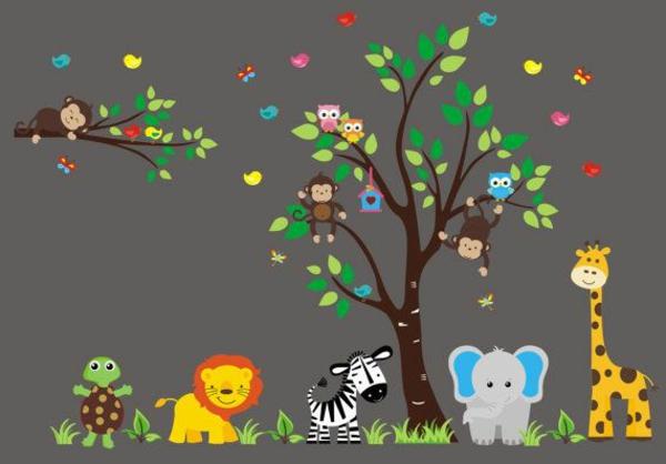 Babyzimmer Gestalten  se Tier Muster fr Ihre Kleinen