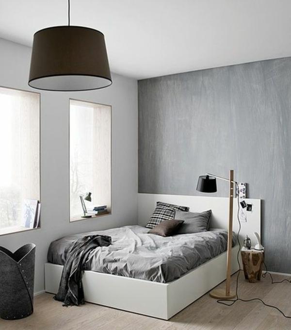 schlafzimmer modern gestalten graue gestaltung - boisholz - Schlafzimmer Modern Gestalten