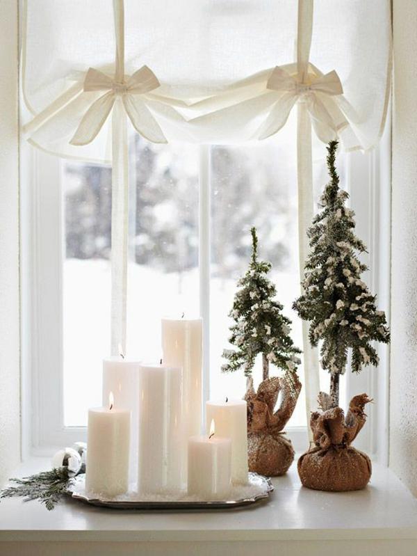 Fensterdeko fr Weihnachten  wunderschne dezente und
