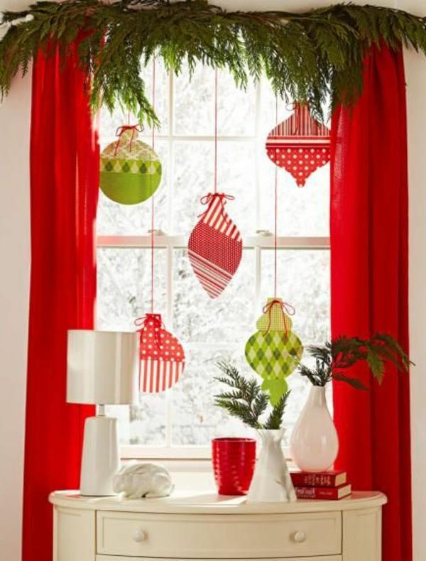 Weihnachten Fensterdeko Basteln Boules De Noel Pour Une