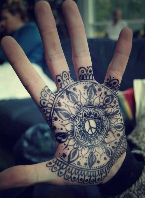 20 Henna Peace Sign Tattoos Ideas And Designs