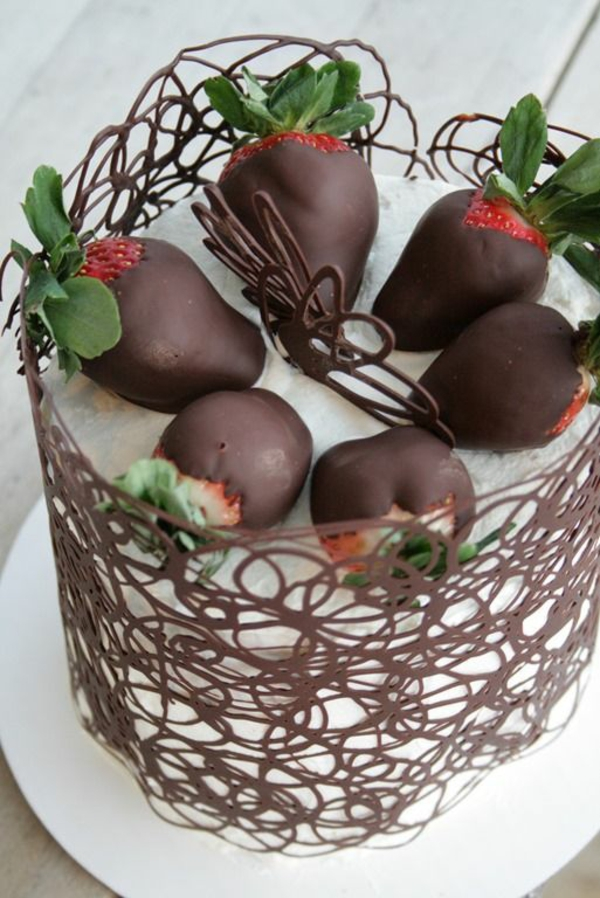 Torte mit schokolade dekorieren  Appetitlich FotoBlog