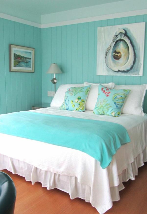 Wandfarbe Trkis fr ein modernes Zuhause
