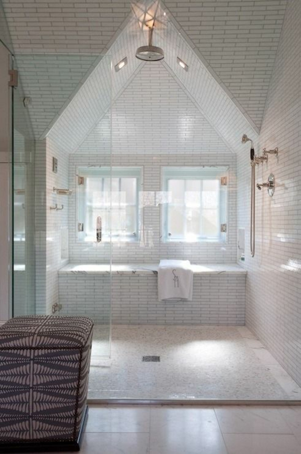 Besonderheiten der Badgestaltung fr kleines Bad im Dachgeschoss