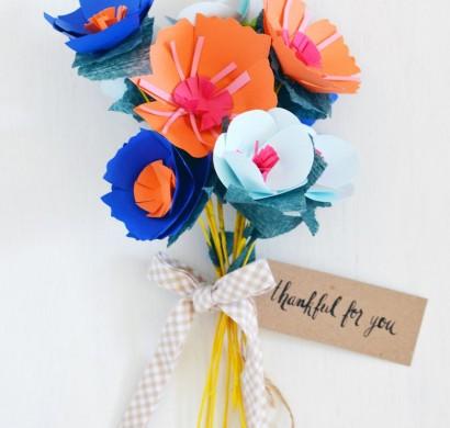 Blumen basteln aus Papier  tolle Geschenksidee zum