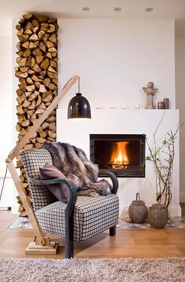 Brennholz Lagern kann auch kunstvoll und sthetisch sein