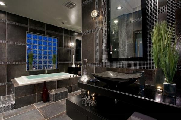 Luxus badezimmer fliesen  luxus badezimmer in schwarz - der neue trend. badezimmer fliesen ...