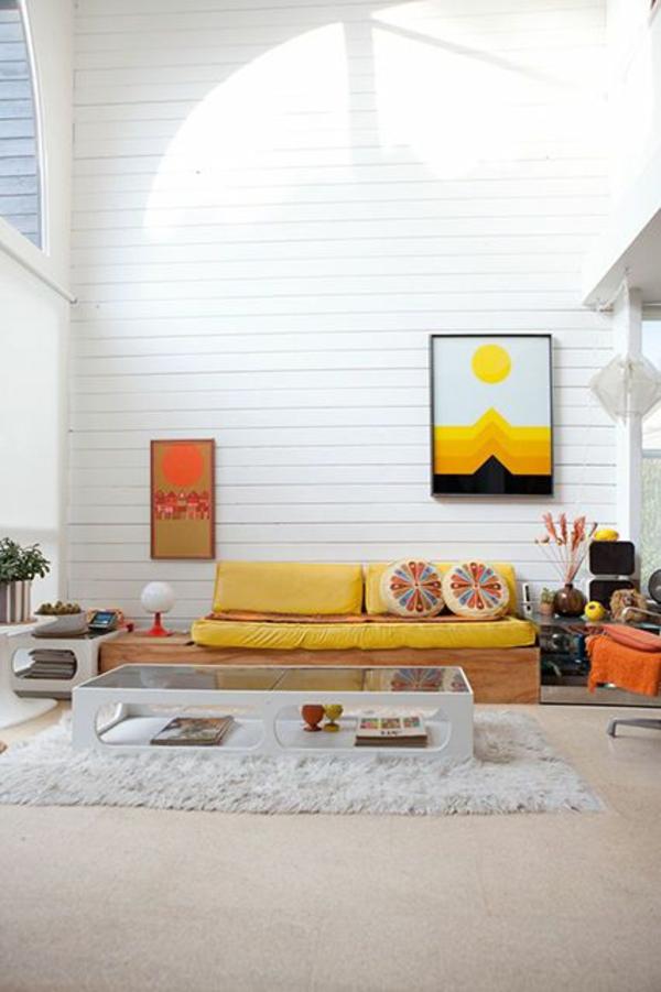 Farbgestaltung im Wohnzimmer  Farbideen und Wohntrends 2015