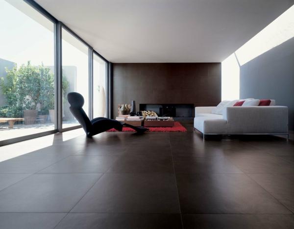Wohnzimmer Fliesen Grau | Haus Design Ideen