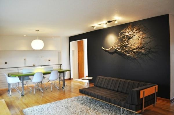 wall to sofa designs india velvet sofas for sale wohnzimmer wandgestaltung -ein paar stilvolle vorschläge ...