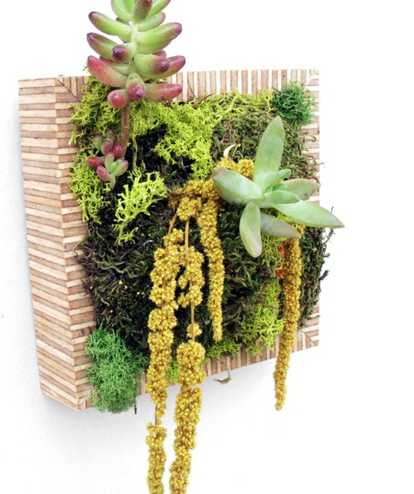 Blumendekoration lebendige Wanddekoration aus Blumen und Pflanzen