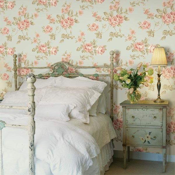 Schlafzimmer Wande Farblich Gestalten Braun Mobili: Schlafzimmer Tapeten Im Landhausstil