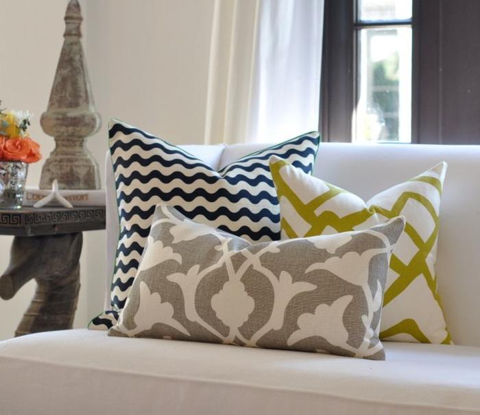 Sofa Kissen  funktionale und schne Dekoration fr das Sofa