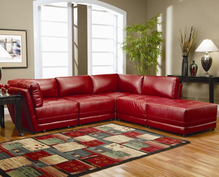 Wohnzimmer Einrichten Rot Inspirierende Bilder Von