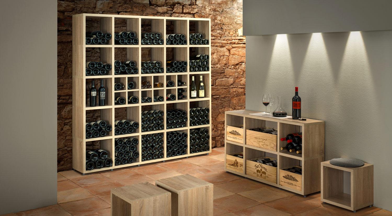 Weinregale mit individuellem Charakter fr echte Weinliebhaber