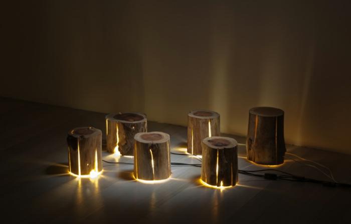 Baumstamm Mbel ausgefallene Designer Leuchten von Duncan