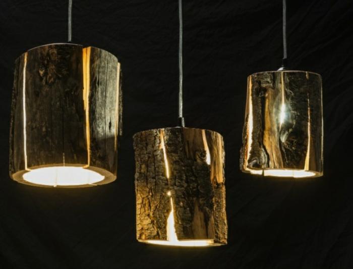 Baumstamm Mbel ausgefallene Designer Leuchten von Duncan Meerding