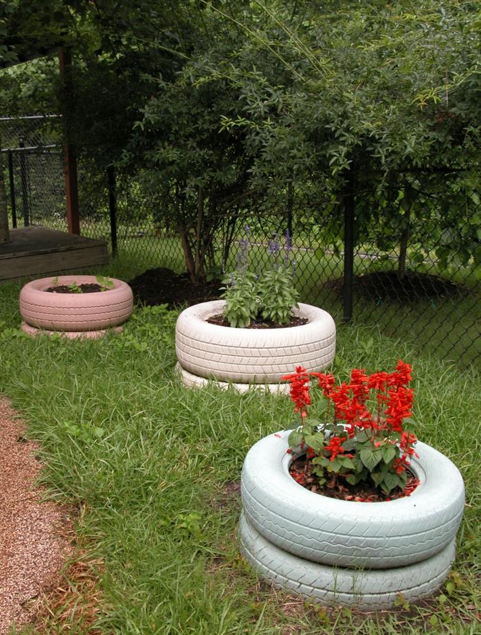 Gartendeko basteln  Den Garten originell dekorieren