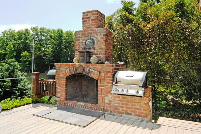 gartenkamin bauen ideen terrasse | möbelideen, Gartengerate ideen