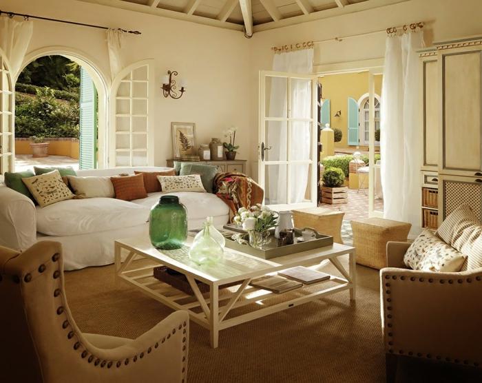 wohnzimmer einrichten im landhausstil - boisholz - Wohnzimmer Einrichten Landhausstil
