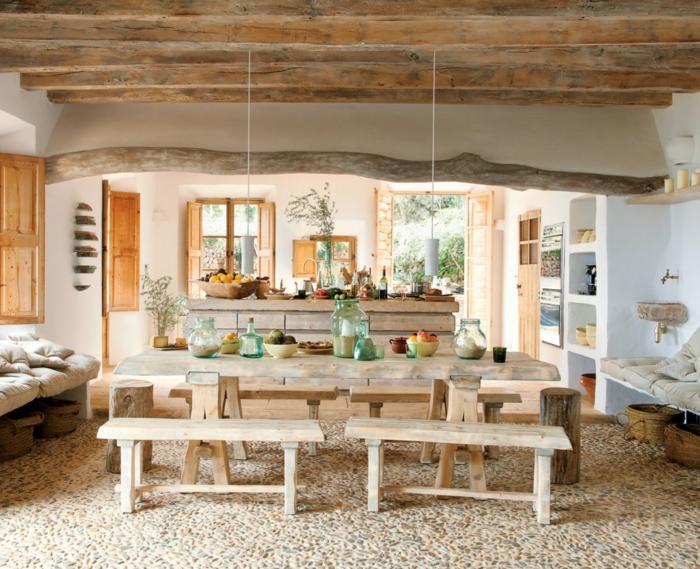 rustikale mobel einrichtungsideen wohnzimmer » sichtschutz - Rustikale Einrichtungsideen
