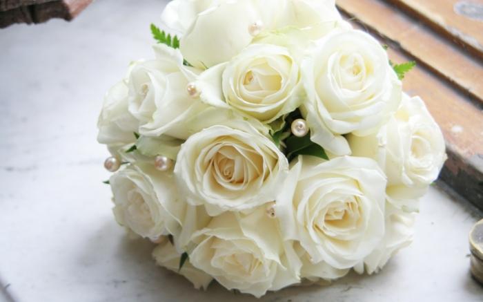 Die weie Rose  ein Symbol der Unschuld und Reinheit