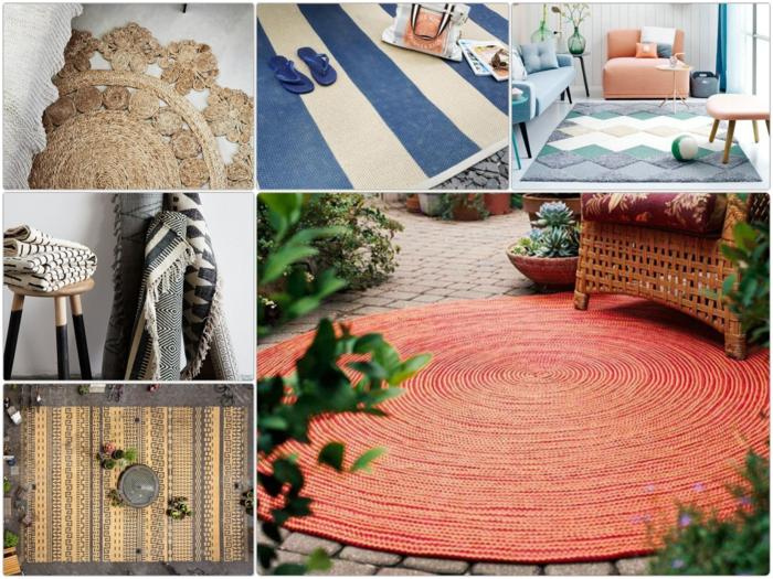 Moderne Teppiche verleihen dem Auenbereich einen coolen Look
