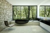 Modernes Badezimmer mit stilvollem Design und ...