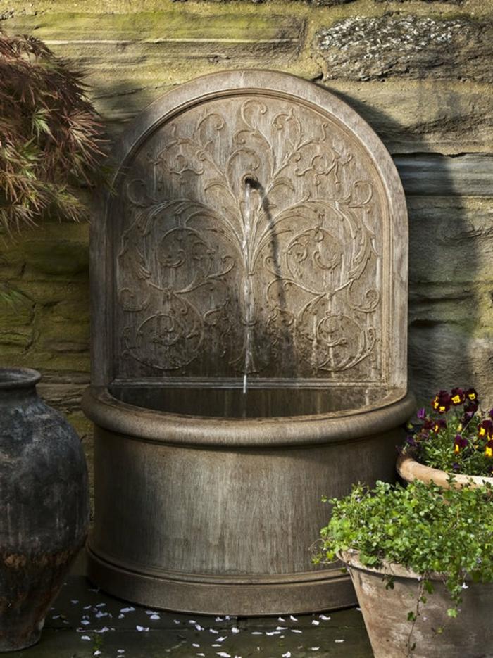 Wandbrunnen  Elegante Ideen wie Sie den Auenbereich verschnern