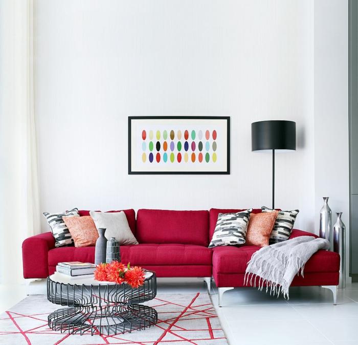 wohnzimmer mit farben gestalten ecksofa modernes haus - boisholz - Wohnzimmer Farblich Gestalten In Rot