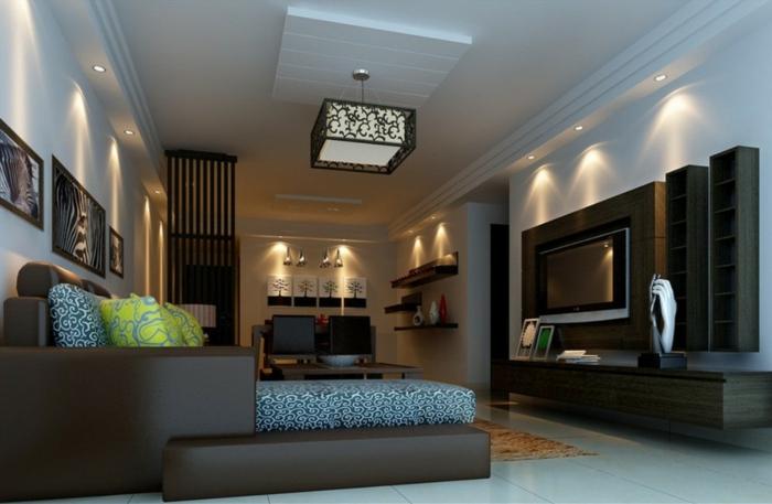 Deckenbeleuchtung Wohnzimmer Cyberbaseco