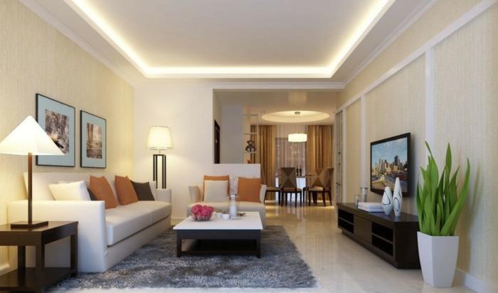 Deckenbeleuchtung Wohnzimmer  Sollten es Decken Einbau oder Pendelleuchten sein
